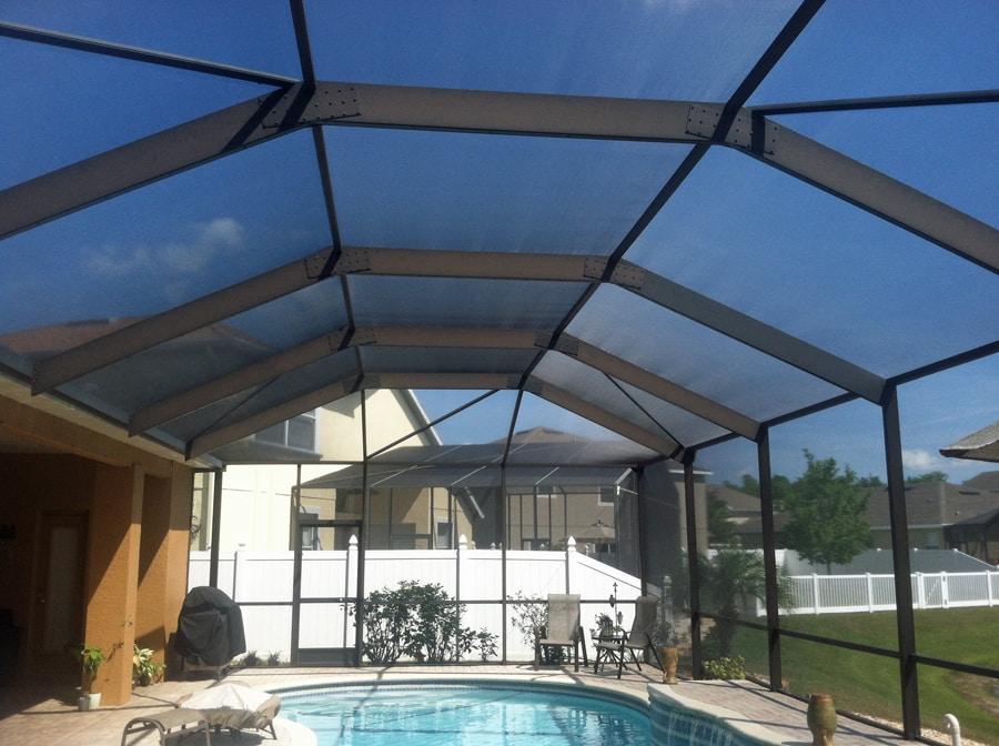 Pool Enclosure Rescreen In Trinity Hudson Florida Screenpro