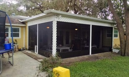 Screen porch after photo Tampa