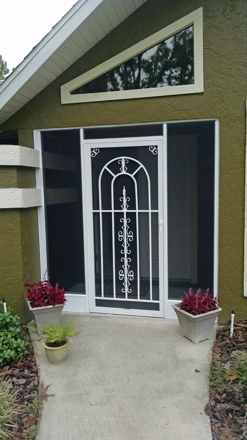 custom screen in entryway in inverness