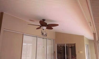 new vinyl ceiling installation