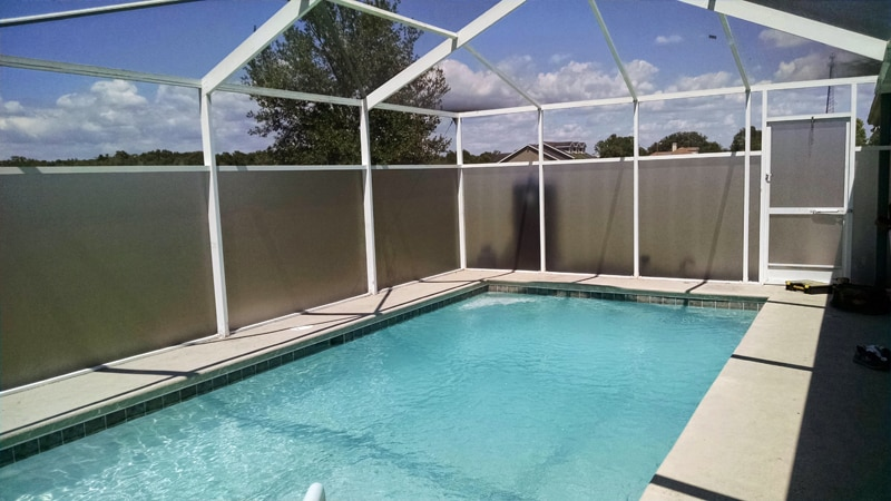 Florida glass installation in brooksville florida screenpro for Privacy pool screen