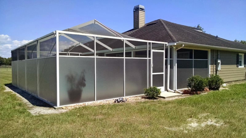 after installing florida glass in brooksville, fl