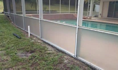new florida glass panel installation