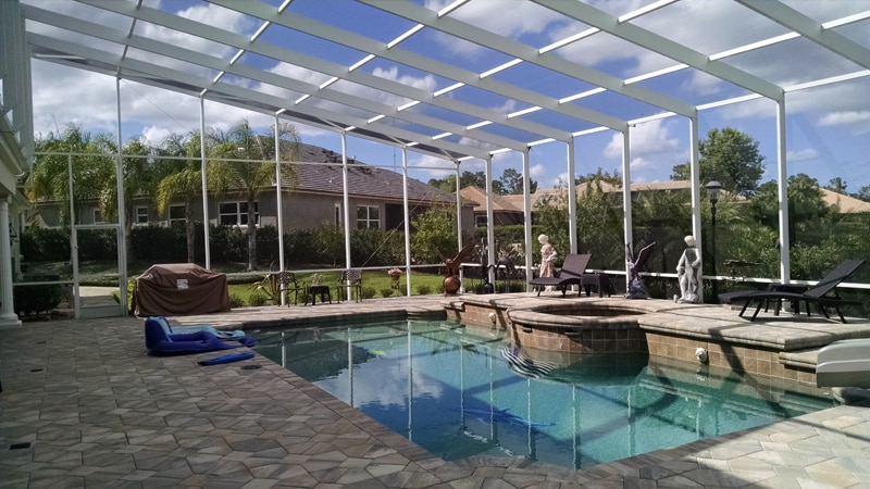 pool cage rescreening in debary, florida