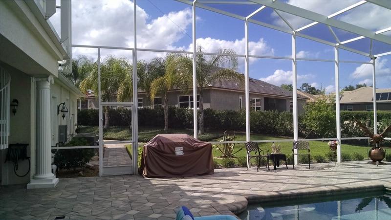 Full Lanai Screen Replacement In Debary Florida Screenpro