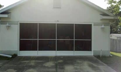 after installation of garage sliding screens