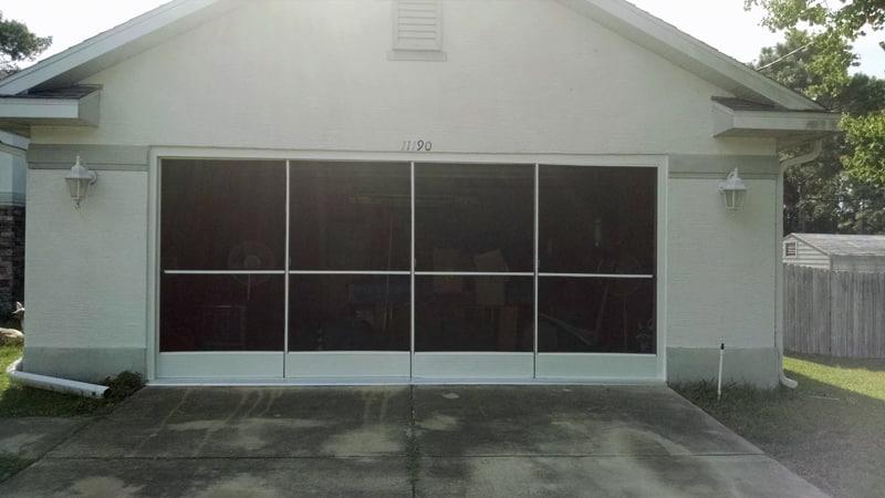 Sliding garage screen door installation in spring hill fl for Sliding garage door screen