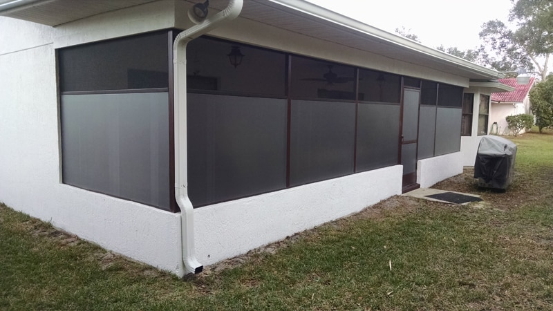 florida glass in spring hill - outside view - after