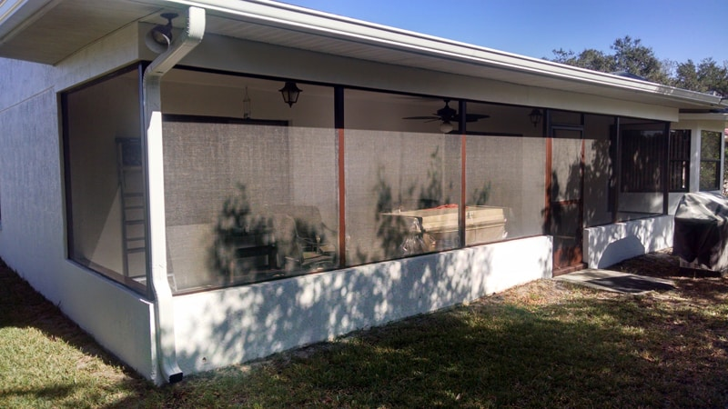 florida glass in spring hill - outside view - before