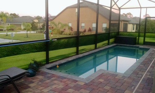 Outdoor privacy screens for patio pool enclosures for Pool privacy screen